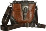 Montana West Western Tooled Faux Leather Cross Body Bag