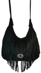 Fringed Premium Leather Hobo Handbag