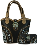 Wholesale Montana West Aztec Concealed Carry Purse & Wallet Set